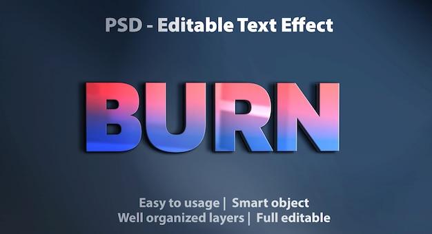 Vorlage zum brennen von texteffekten