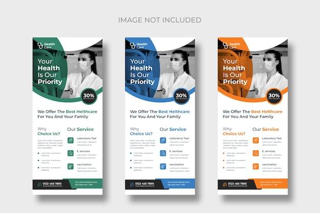 Vorlagen für medizinische rackkarten oder dl-flyer
