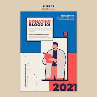 Vorlagendesign für blutspende-flyer