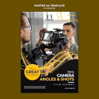 Vorlagendesign für filmemacher-poster