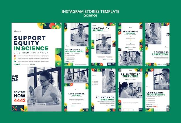 Vorlagendesign für science-instagram-geschichten