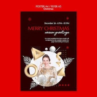 Vorlagendesign für weihnachtsplakate