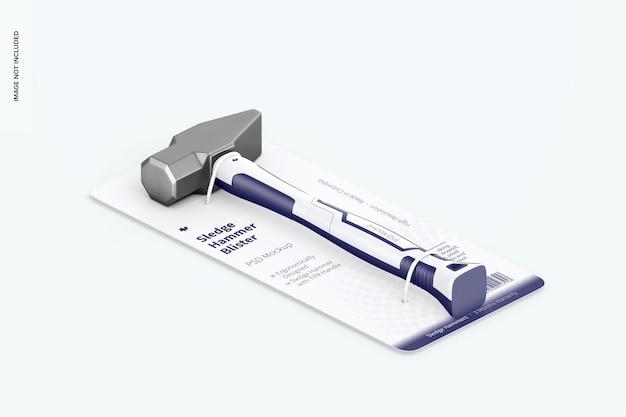 Vorschlaghammer-blister-modell, isometrische ansicht