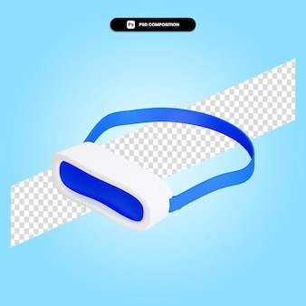Vr-brille 3d-render-illustration isoliert