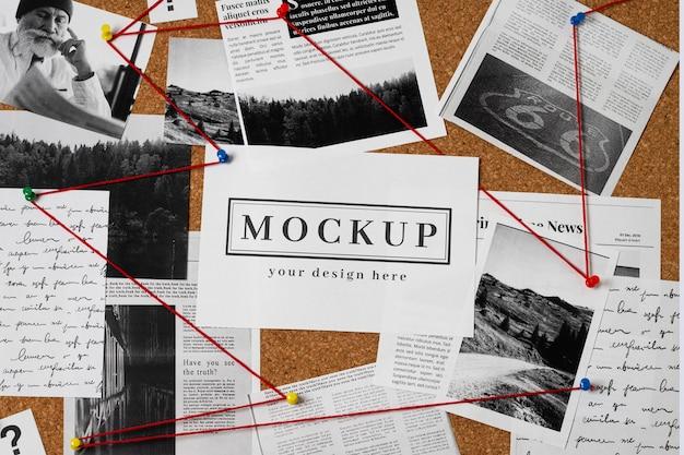 Wahrheitsermittlung mit karten-mock-up-arrangement