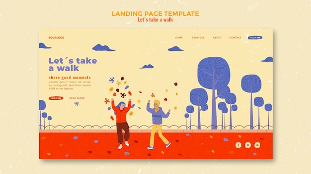 Walk in nature template landing page