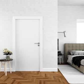 Wand mit leerem türmodell