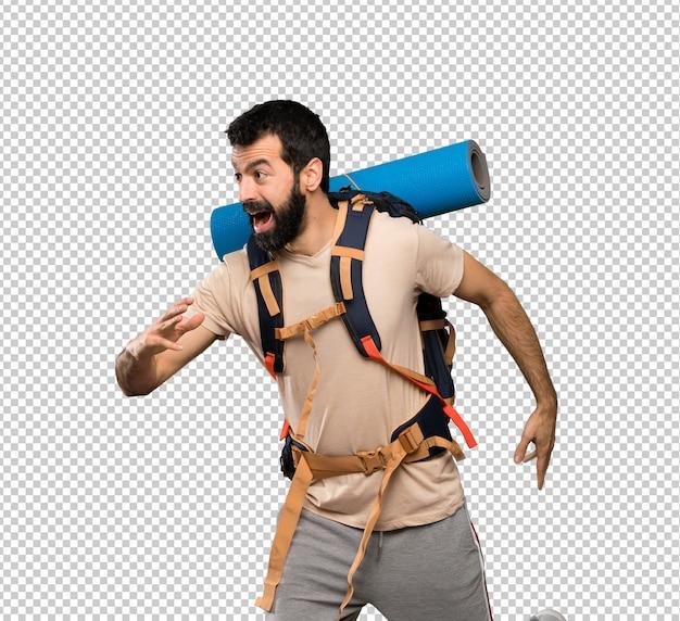 Wanderer mann zu fuß