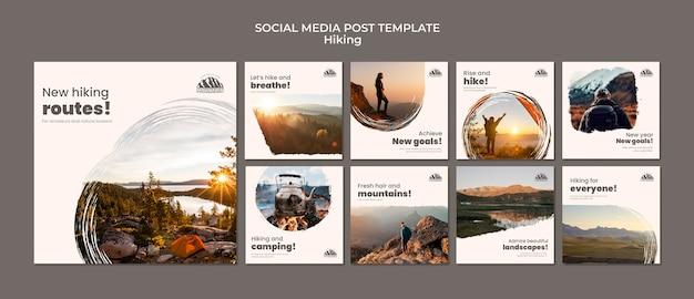 Wandern in sozialen medien