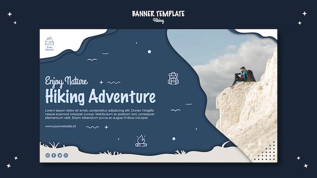 Wandern konzept banner vorlage design