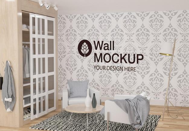 Wandmodell-design im schlafzimmer
