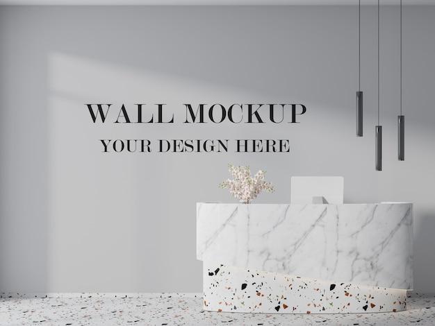 Wandmodell für modernen büroempfang