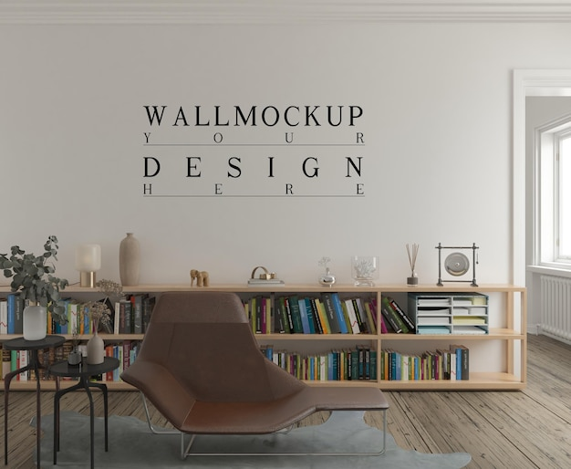 Wandmodell im modernen zeitgenössischen wohnzimmer