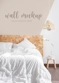 Wandmodell in der schlafzimmeranordnung Kostenlosen PSD