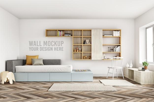 Wandmodell-innenraum scherzt schlafzimmer mit dekorationen