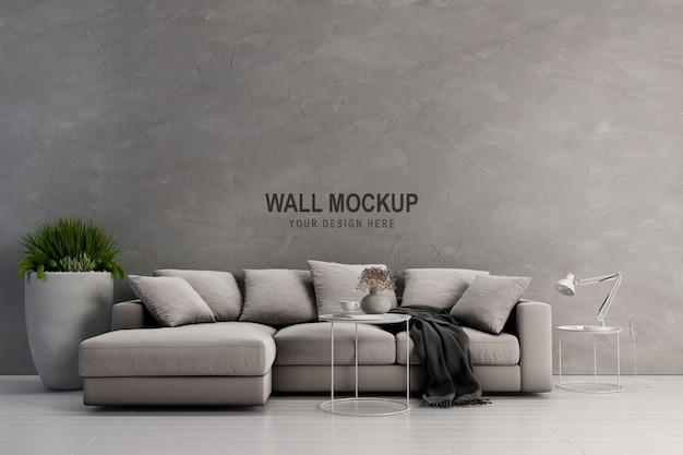 Wandmodellentwurf im 3d-rendering