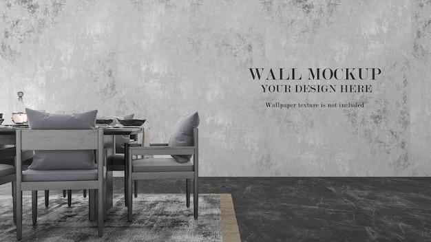 Wandmodellentwurf mit möbeln