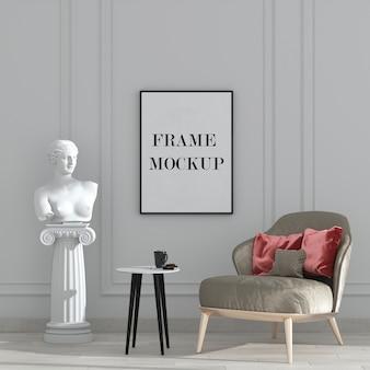 Wandrahmenmodell im neoklassizistischen stil interieur