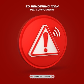 Warnsymbol beim 3d-rendering
