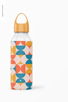 Wasserflasche mit silikonhülle mockup