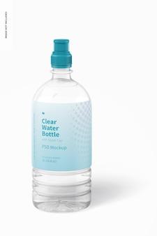 Wasserflasche mit sportkappenmodell, vorderansicht Premium PSD