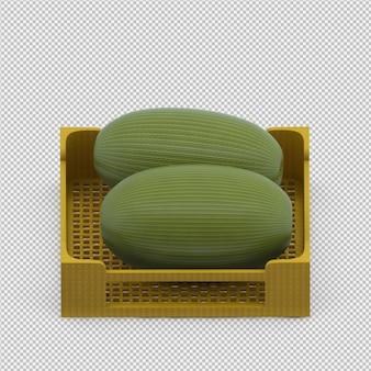 Wassermelone 3d übertragen