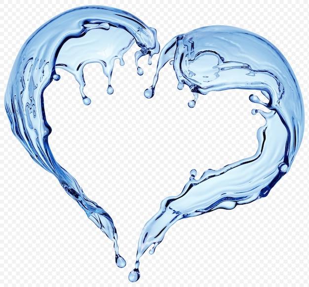 Wasserspritzer transparent isoliert