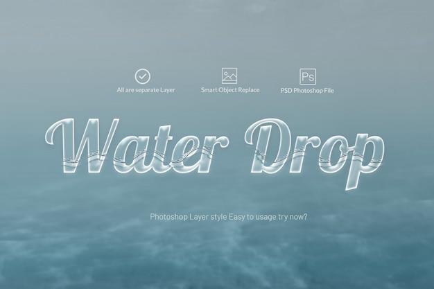 Wassertext-effekt