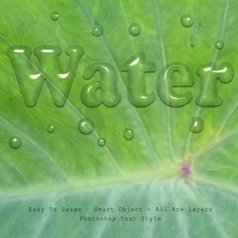 Wassertext-stil-effekt