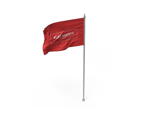 Waving flag mockup design isoliert