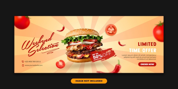 Web banner facebook cover vorlage special food burger