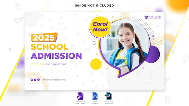 Web-banner für den schuleintritt