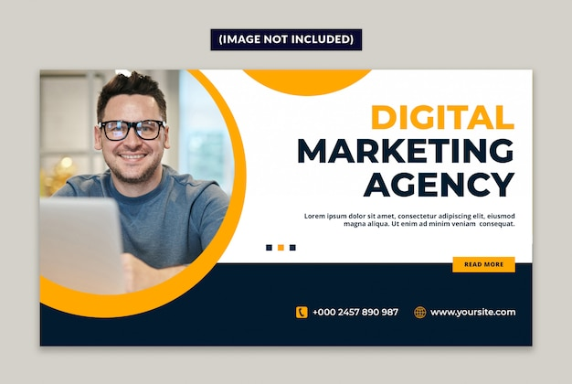 Web-banner-vorlage der digital marketing agency