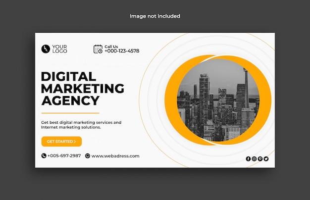 Web-banner-vorlage für digitales marketinggeschäft