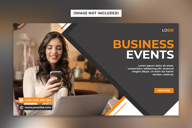 Web-banner-vorlage für geschäftsereignisse