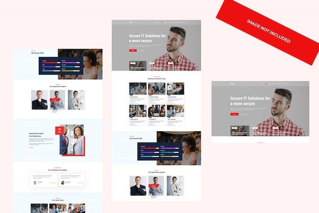 Web-design, psd-vorlage. agentur, react portfolio und unternehmensthema