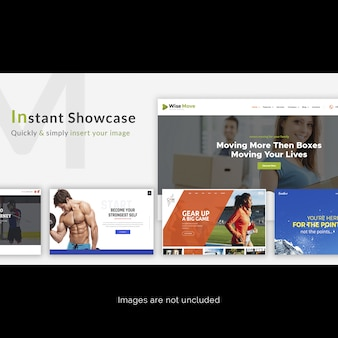 Web-seite instant-showcase