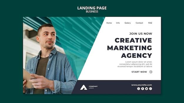 Web-vorlage der marketingagentur