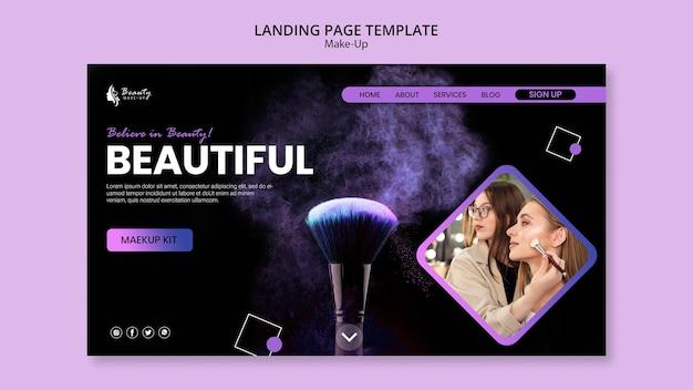 Web-vorlage für das make-up-konzept