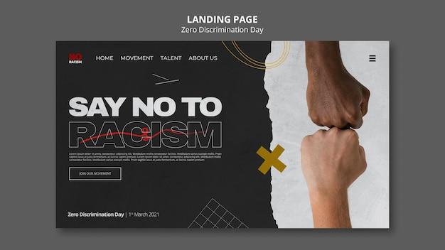 Web-vorlage für den tag ohne diskriminierung