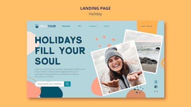 Web-vorlage für die landingpage der feiertage
