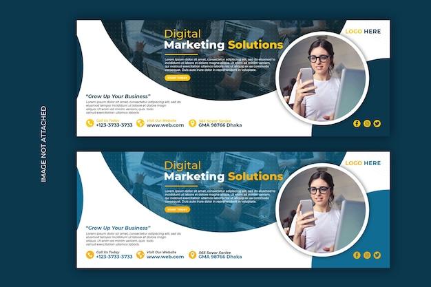 Web-vorlage für digitales marketing