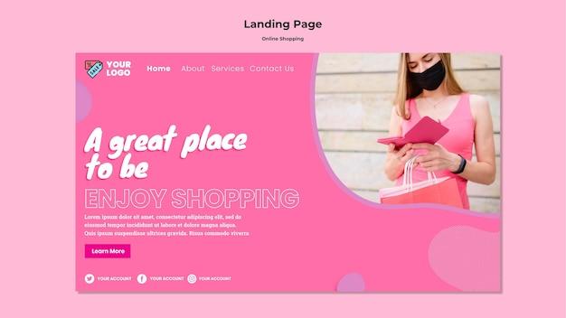 Web-vorlage für online-einkäufe