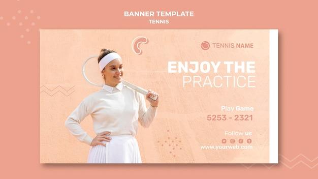 Web-vorlage für tennisübungen