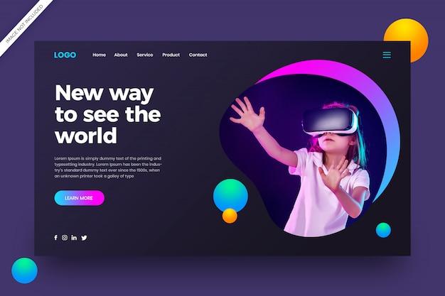 Web-vorlage für virtuelle realität