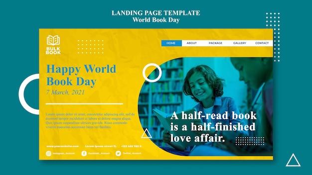 Web-vorlage für weltbuch-tagesereignis