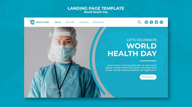 Webseite vorlage zum weltgesundheitstag