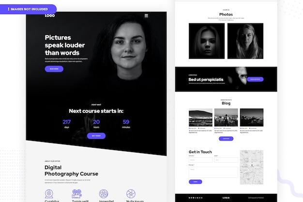 Website des kurses für digitale fotografie