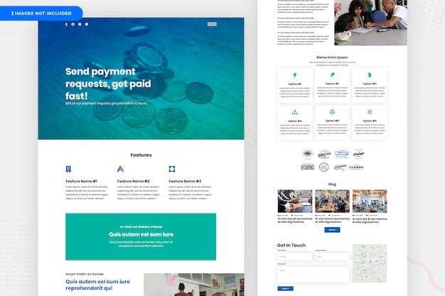Website-design für online-zahlungen