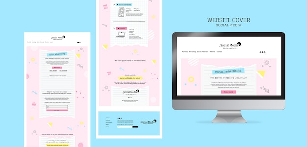 Website-designvorlage für social-media-marketing-agentur